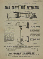 Advert for W Henry Thompson's tack driver & extractor